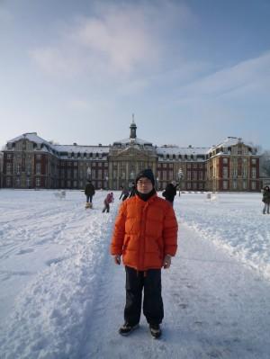 雪景色のミュンスター城